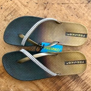 Fresko flip flops women's NEW with tags size 8